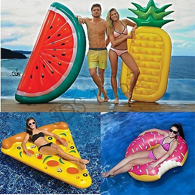 Adult Swim Water Toy Watermelon/pineApple/Pizza/Doughnut Inflatable Float Pool