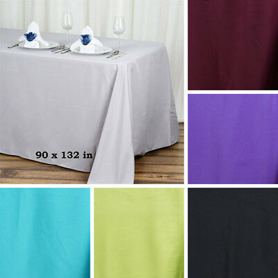 """36 pcs Wholesale 90x132"""" RECTANGLE Polyester TABLECLOTHS Wedding Party Supplies"""