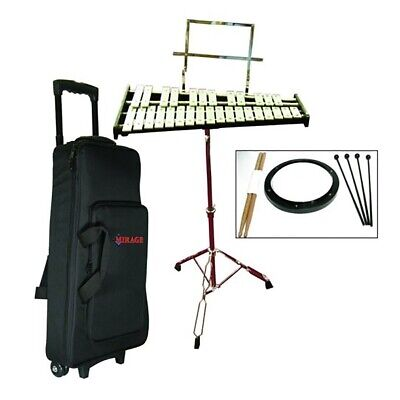 New Mirage GPBK1 Bell Kit w/ Rolling Case, Practice Pad, Stand, Mallets & Sticks