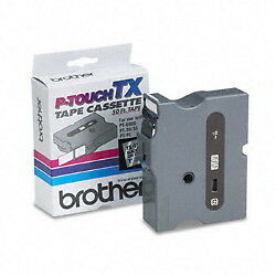 """Brother TX1511 1"""" (24mm) Black On Clear p-touch tape for PT30, PT-30 printers"""