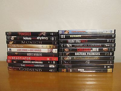 Lot of 20 Various ACTION / DRAMA DVD Movies - Great Condition - Good Movies (8i)