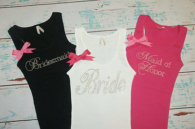 Bride Tank Shirt top Bridesmaids Maid of honor sister of the bride, wedding gift