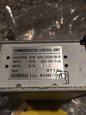 Agusta Helicopter P/N 109-0729-19-3  AG-06-1-A Audio Panel