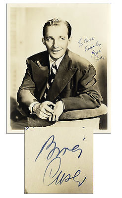 Bing Crosby 8'' x 10'' Signed & Inscribed Matte Photo