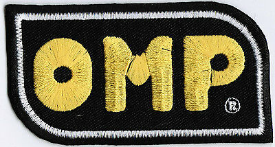 OMP Racing Car Badge Iron On Embroidered Patch