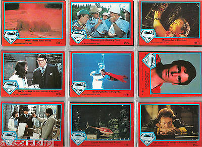 Superman The Movie Series 2 - Trading Card Set (88) - 1979 TOPPS - NM