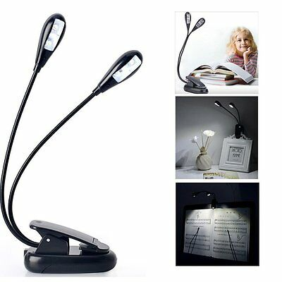 Cy3Lf BEST Reading Light - Clip On Book Lamp - Battery Operated - 4 LED USB Cord