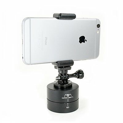 360° Rotating Tripod Time Lapse Stabilizer with Adapter + Phone Clamp, Gopro