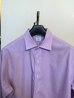 BROOKS BROTHERS Slim Fit Non-Iron Button Front Shirt 16-1/2 -35 French Cuffs