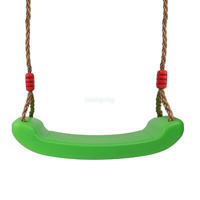 Green Swing Seat with 4.6-8.2ft Adjustable Rope Set Kids Outdoor Indoor Toys