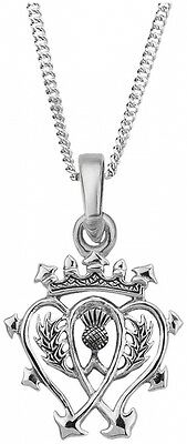 Hamilton & Young Scottish Luckenbooth Silver Pendant 0894. Free Delivery