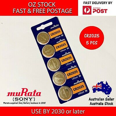 5x SONY CR2025 3v 160mah lithium Battery button cell/coin calculator FAST POST