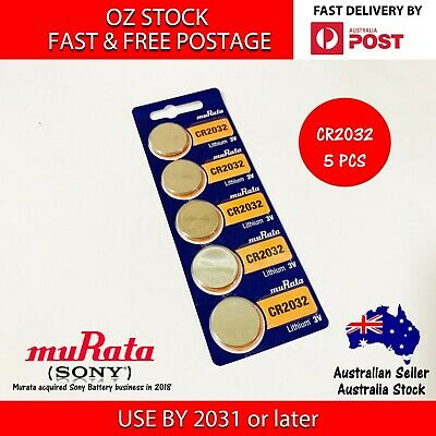 5x MURATA(SONY) CR2032 3v 220mah lithium Battery button cell/coin FAST POST