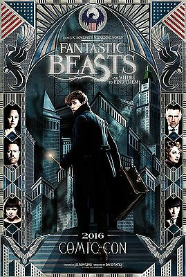 Fantastic Beasts And Where To Find Them Manifesto J.k. Rowling Comic-Con Poster