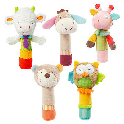 1 Pc Baby Colorful Cute Animal Rattles Hand Bell Educational Funny Newborn Toys