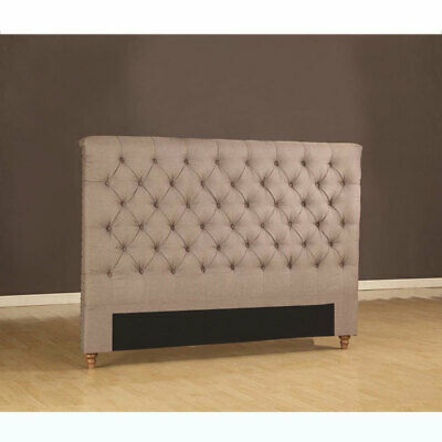 New Various Size Upholstered Headboard Almond Colour Fabric Bed Head - Prado