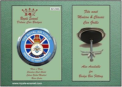 Royale Car Grill Badge + Fittings - THE ROYAL AIR FORCE PROUD - B2.2365