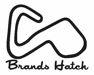 CIRCUIT DE BRANDS HATCH RACING TRACK AUTOCOLLANT STICKER 7,5cm BA014
