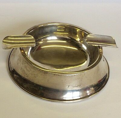 Art Deco Solid Silver Double Cigar Stand / Ashtray Chatterley & Sons 1944