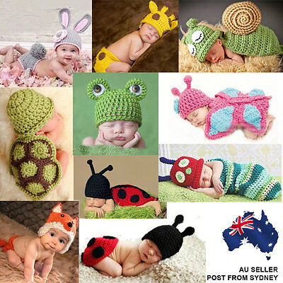 Baby Boy Girl Knit Infant Photo Crochet Costume Photography Prop Outfit