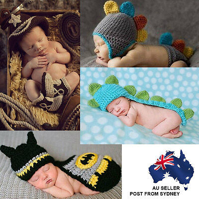 Baby Boy Girl Knit Infant Newborn Photo Crochet Costume Photography Prop Outfit