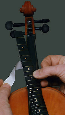 """THE FIDDLE FRETTER""  Temporary Violin Frets.  Make your violin a Fretted Violin"