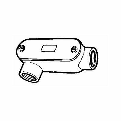 """THOMAS & BETTS 3/4"""" Type LR Access Fitting Electric Threaded Conduit Body"""