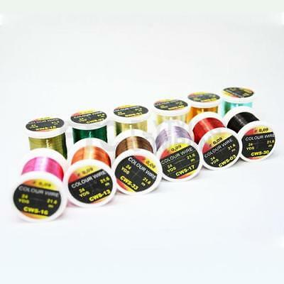 Hends Colour Fly Tying Wire | Multiple Colours & 3 sizes Available | Color Wire