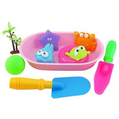 10pcs Cute Rubber Animals Bath Beach Toy For Baby Kids Bathing Accessories