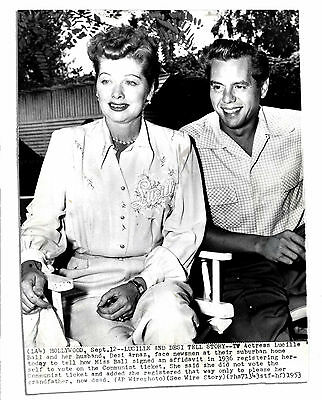 1953 Wire Photo of Lucy & Desi -- 6.75'' x 8.75'' Glossy