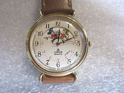 Rare Rotating Mickey Mouse Watch Lorus Mens or Ladies Disney Multiple Mickeys