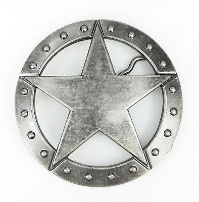 Vintage Silver Alloy Studded Sheriff Star Western Belt Buckle FREE GIFT BOX NEW