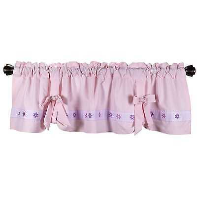 Lambs & Ivy Mystic Forest Nursery Window Valance 53.5x15.5 pink lavender new