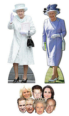 Queen Elizabeth II 90th Birthday Pack A - includes 2 Cutouts 7 Masks 1 Photo