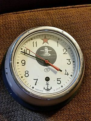 Kauchqupckue Russian Navy Submarine Wall Clock with Wall Mount Pre-owned. CCCP