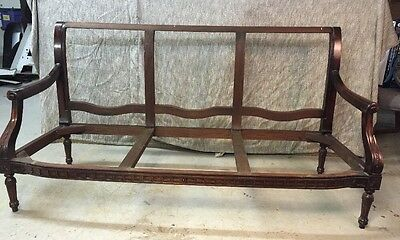 CLASSICAL FEDERAL SHERATON MAHOGANY SOFA Frame Ready For Your Upholstery Raw