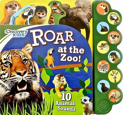 :ROAR AT THE ZOO SOUND BUTTON BOOK by DISCOVERY KIDS