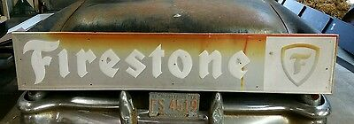 Vintage Extra Large 72x14 Firestone Sign Tires Metal Gas Oil Service Station