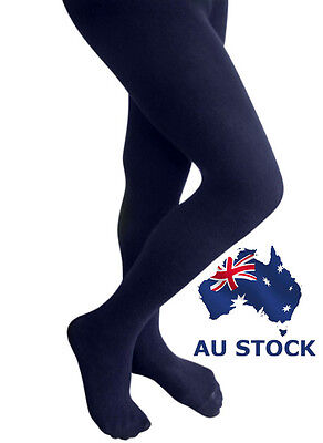 Pantyhose Tights Opaque 120d Stockings Hosiery Women Navy Blue Black