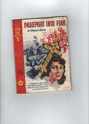 Sexton Blake Library Number 431 Passport into Fear by w Howard Baker