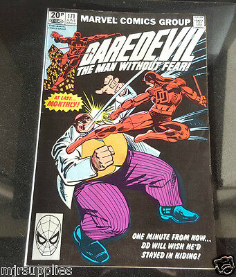 Marvel Comics Daredevil #171 June 1981 In the king pin Clutches