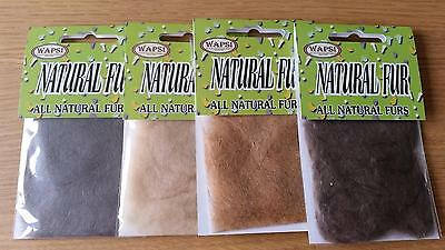 Wapsi Natural Fur Dubbing, Choice of Colours | Perfect for Dry Fly and Emerger P