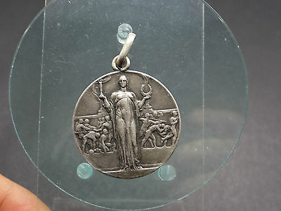 Alte Silber Medaille GINNICO SPORTIVE  Italien