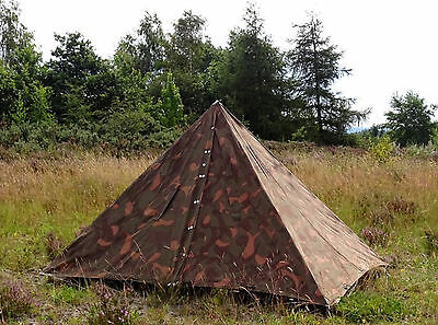 Genuine 1980s Hungarian Army Canvas Tent rain ponchos military festival camping