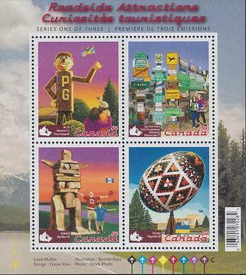 Canada 2009 Souvenir Sheet #2335 Roadside Attractions – 1 - MNH