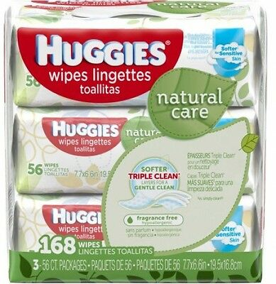 Huggies Natural Care Baby Wipes, Refill, Unscented, Hypoallergenic, Aloe And E