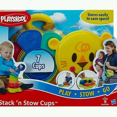 PLAYSKOOL STACK AND STOW CUPS (PLAY STOW GO) 7 CUPS AGES 9Months +