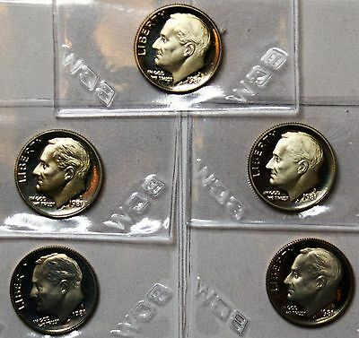 1981 S 10C Proof Roosevelt Dime - FREE SHIPPING