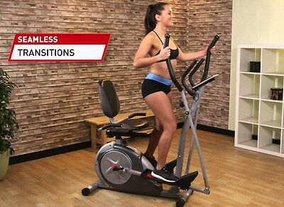 Elliptical Trainer Exercise Bike Recumbent Bicycle Home Gym Fitness Equipment