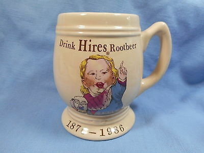 Drink Hires Root Beer  Mug  1876-1986